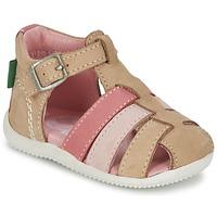 Παπούτσια Κορίτσι Σανδάλια / Πέδιλα Kickers BIGFLY Beige / ροζ