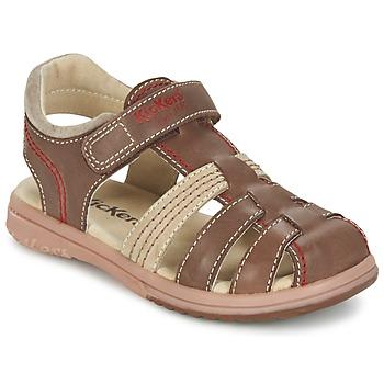 Παπούτσια Αγόρι Σανδάλια / Πέδιλα Kickers PLATINIUM Brown