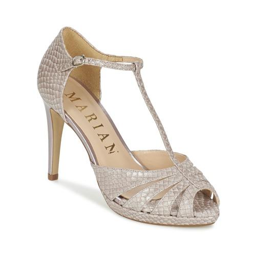 Παπούτσια Γυναίκα Σανδάλια / Πέδιλα Marian CHANVRO Beige / Python