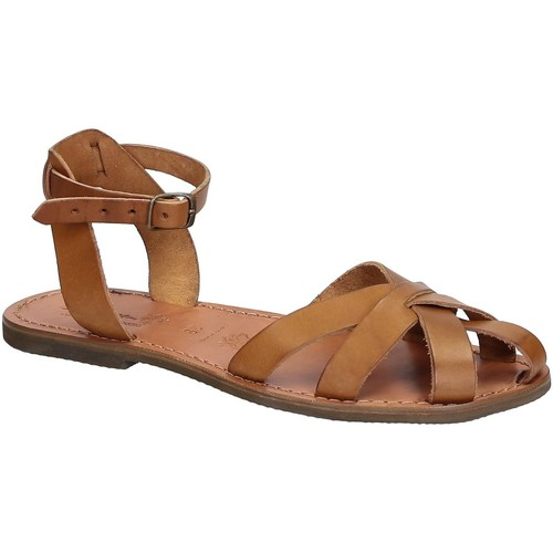 Παπούτσια Γυναίκα Σανδάλια / Πέδιλα Gianluca - L'artigiano Del Cuoio 503 D CUOIO GOMMA Cuoio