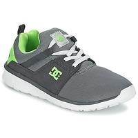 Παπούτσια Αγόρι Χαμηλά Sneakers DC Shoes HEATHROW Grey / Άσπρο / Green