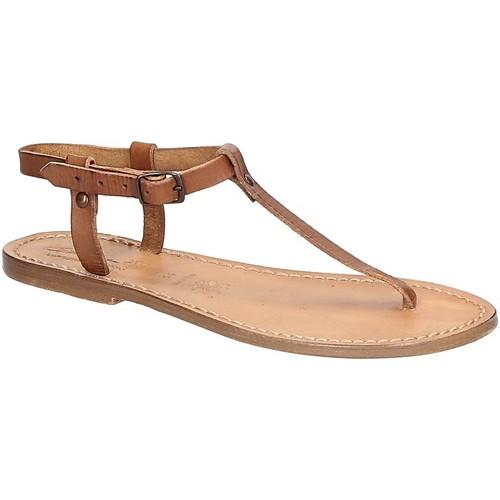 Παπούτσια Γυναίκα Σανδάλια / Πέδιλα Gianluca - L'artigiano Del Cuoio 532 D CUOIO CUOIO Cuoio