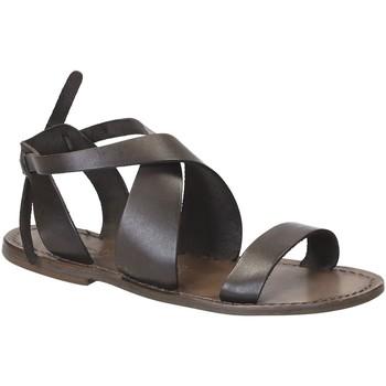 Παπούτσια Γυναίκα Σανδάλια / Πέδιλα Gianluca - L'artigiano Del Cuoio 570 D FANGO CUOIO Fango