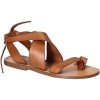 Παπούτσια Γυναίκα Σανδάλια / Πέδιλα Gianluca - L'artigiano Del Cuoio 571 D CUOIO CUOIO Cuoio