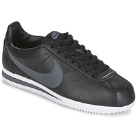 Παπούτσια Άνδρας Χαμηλά Sneakers Nike CLASSIC CORTEZ LEATHER Black / Grey
