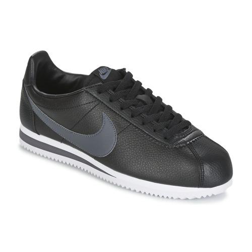 Παπούτσια Άνδρας Χαμηλά Sneakers Nike CLASSIC CORTEZ LEATHER Black / Grey