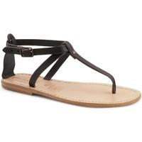 Παπούτσια Γυναίκα Σανδάλια / Πέδιλα Gianluca - L'artigiano Del Cuoio 582 D NERO LGT-CUOIO nero