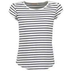 Υφασμάτινα Γυναίκα T-shirt με κοντά μανίκια Moony Mood EIYA άσπρο / μπλέ