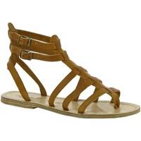 Παπούτσια Γυναίκα Σανδάλια / Πέδιλα Gianluca - L'artigiano Del Cuoio 506 D CUOIO LGT-CUOIO Cuoio