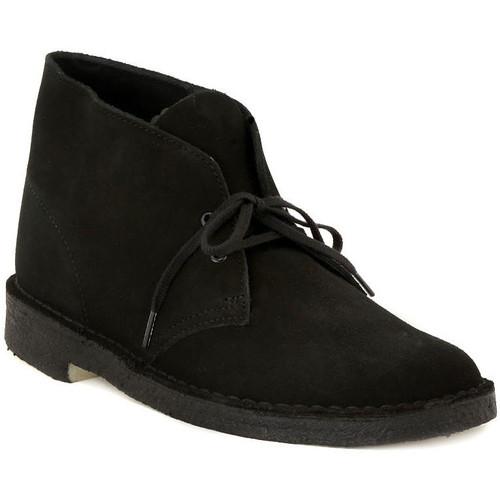 Παπούτσια Άνδρας Μπότες Clarks DESERT BOOT BLACK Nero