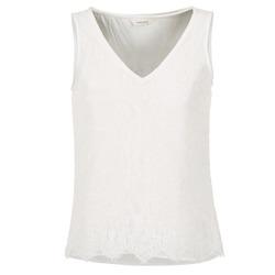 Υφασμάτινα Γυναίκα Αμάνικα / T-shirts χωρίς μανίκια Naf Naf LADALIA Ecru