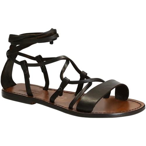 Παπούτσια Γυναίκα Σανδάλια / Πέδιλα Gianluca - L'artigiano Del Cuoio 519 D MORO CUOIO Testa di Moro