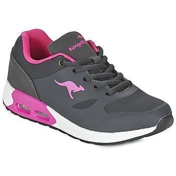 Παπούτσια Κορίτσι Χαμηλά Sneakers Kangaroos KANGA X Grey / ροζ