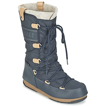 Παπούτσια Γυναίκα Snow boots Moon Boot MOON BOOT WE MONACO FELT Μπλέ