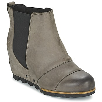 Παπούτσια Γυναίκα Μποτίνια Sorel LEA WEDGE Grey / Fonce