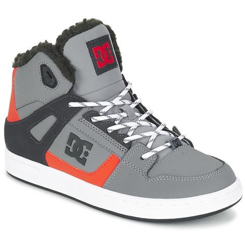 Παπούτσια Παιδί Ψηλά Sneakers DC Shoes REBOUND WNT B SHOE XSKN Grey / Black / Orange