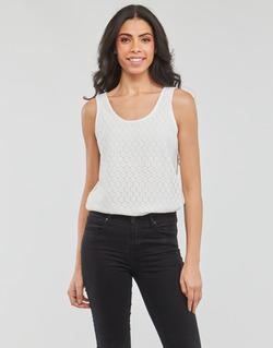 Υφασμάτινα Γυναίκα Αμάνικα / T-shirts χωρίς μανίκια Moony Mood IGUOHIAVINE Άσπρο