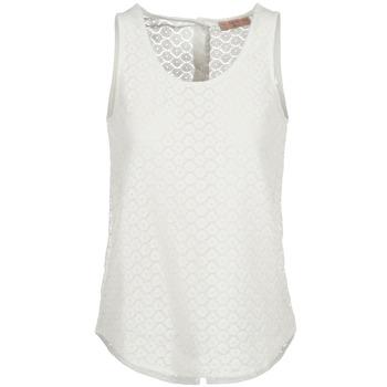 Υφασμάτινα Γυναίκα Αμάνικα / T-shirts χωρίς μανίκια Moony Mood GUOHIAVINE άσπρο