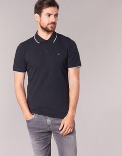 Υφασμάτινα Άνδρας Πόλο με κοντά μανίκια  Calvin Klein Jeans PARK TIPPING SLIM FIT Black