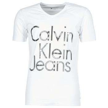 Υφασμάτινα Άνδρας T-shirt με κοντά μανίκια Calvin Klein Jeans TEMPEST VN SLIM FIT άσπρο