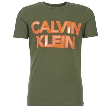 Υφασμάτινα Άνδρας T-shirt με κοντά μανίκια Calvin Klein Jeans TERRAIN CN SLIM FIT KAKI