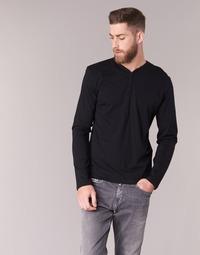 Υφασμάτινα Άνδρας Μπλουζάκια με μακριά μανίκια BOTD ETUNAMA Black