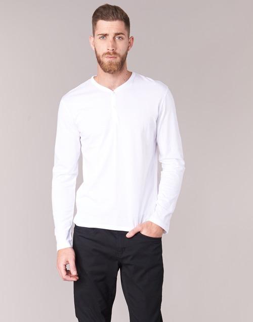 Υφασμάτινα Άνδρας Μπλουζάκια με μακριά μανίκια BOTD ETUNAMA Άσπρο