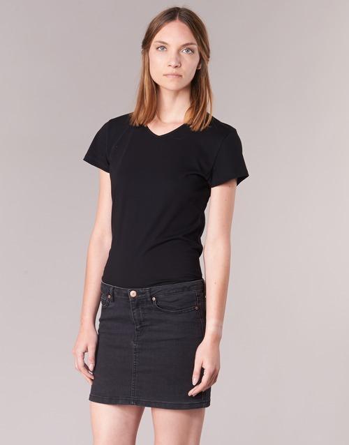 Υφασμάτινα Γυναίκα T-shirt με κοντά μανίκια BOTD EFLOMU Black