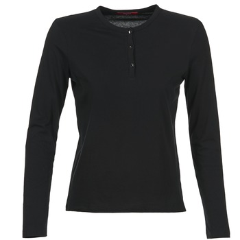 Υφασμάτινα Γυναίκα Μπλουζάκια με μακριά μανίκια BOTD EBISCOL Black