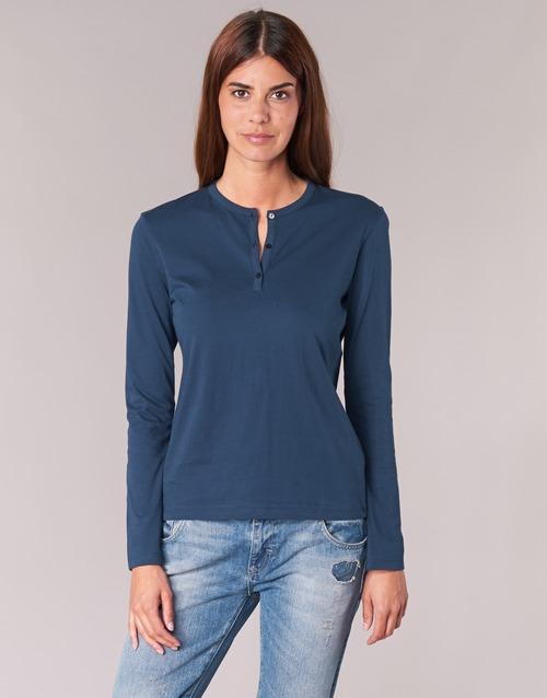 Υφασμάτινα Γυναίκα Μπλουζάκια με μακριά μανίκια BOTD EBISCOL Marine