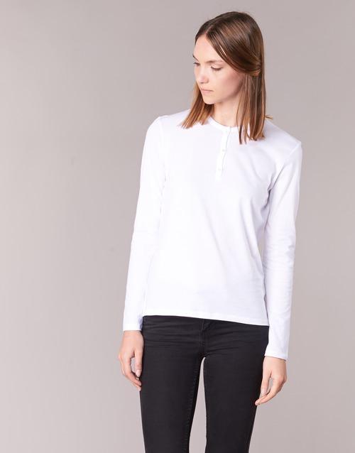 Υφασμάτινα Γυναίκα Μπλουζάκια με μακριά μανίκια BOTD EBISCOL Άσπρο