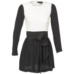 Υφασμάτινα Γυναίκα Κοντά Φορέματα American Retro STANLEY Black / Άσπρο