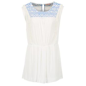 Υφασμάτινα Γυναίκα Κοντά Φορέματα Moony Mood EBENE άσπρο