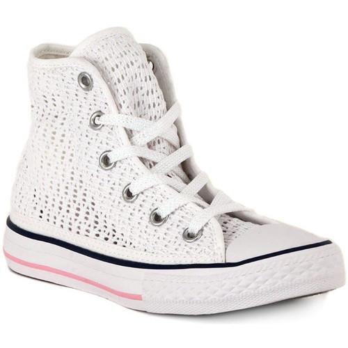 Παπούτσια Ψηλά Sneakers Converse ALL STAR HI  TINY CROCHET Bianco