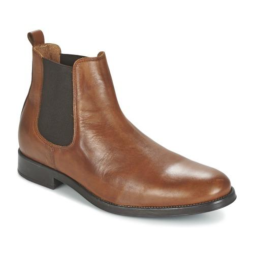 Παπούτσια Άνδρας Μπότες Selected SHDOLIVER CHELSEA BOOT NOOS COGNAC