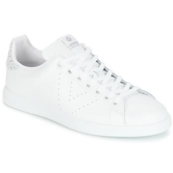 Παπούτσια Γυναίκα Χαμηλά Sneakers Victoria DEPORTIVO BASKET PIEL Άσπρο / Silver