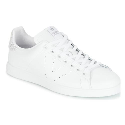 Παπούτσια Γυναίκα Χαμηλά Sneakers Victoria DEPORTIVO BASKET PIEL Άσπρο / Argenté