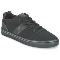 Παπούτσια Άνδρας Χαμηλά Sneakers Polo Ralph Lauren HANFORD-NE Black