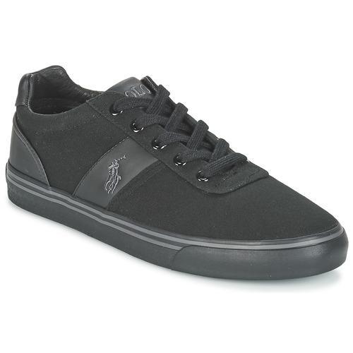 Παπούτσια Άνδρας Χαμηλά Sneakers Ralph Lauren HANFORD-NE Black