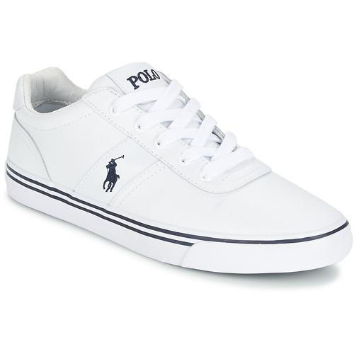 Παπούτσια Άνδρας Χαμηλά Sneakers Polo Ralph Lauren HANFORD Άσπρο
