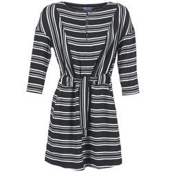 Υφασμάτινα Γυναίκα Κοντά Φορέματα Loreak Mendian PILI Black / άσπρο