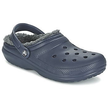 Παπούτσια Σαμπό Crocs CLASSIC LINED CLOG Marine / Grey