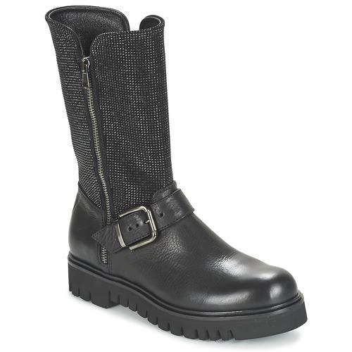 Παπούτσια Γυναίκα Μπότες για την πόλη Now BOURNIRO Black