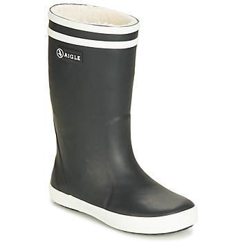 Παπούτσια Παιδί Μπότες βροχής Aigle LOLLY POP FUR Black