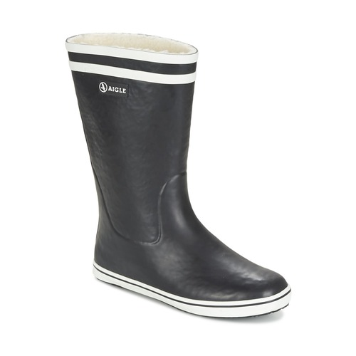 Παπούτσια Γυναίκα Μπότες βροχής Aigle MALOUINE FUR Black