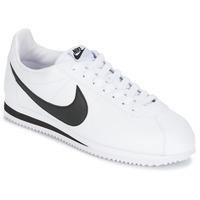 Παπούτσια Άνδρας Χαμηλά Sneakers Nike CLASSIC CORTEZ LEATHER Άσπρο / Black