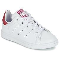 Παπούτσια Κορίτσι Χαμηλά Sneakers adidas Originals STAN SMITH EL C Άσπρο / Ροζ