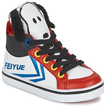 Παπούτσια Παιδί Ψηλά Sneakers Feiyue DELTA MID PEANUTS Άσπρο / Black / Red