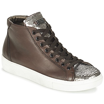 Παπούτσια Γυναίκα Ψηλά Sneakers Tosca Blu ALEXA Brown / Argenté