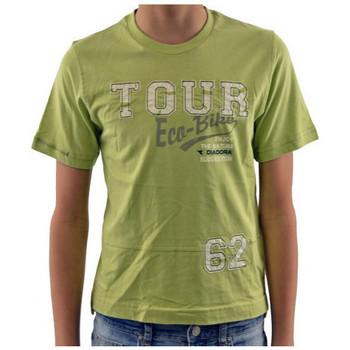 Υφασμάτινα Παιδί T-shirt με κοντά μανίκια Diadora  Green